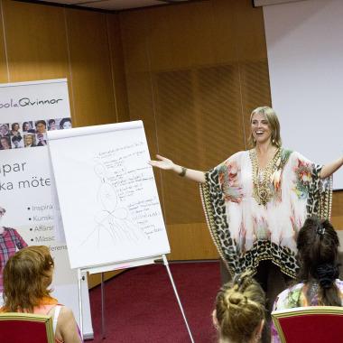 Röstyogaworkshop på Qoola Qvinnors konferens i Kroatien 2/9-2015